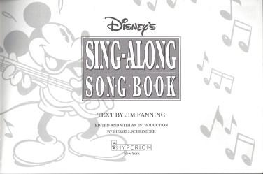 Song Book Mast Head